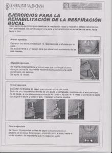 Ejercicios para la rehabilitación de la respiraciónbucal