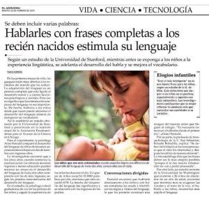 Hablar a los bebés con frases completas estimula sulenguaje
